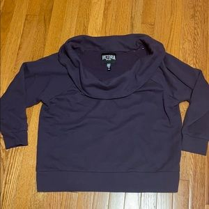 Victoria's Secret Purple Cowl Neck Sweatshirt LG